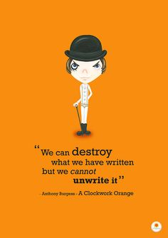 Clockwork Orange Illustration Quote Print We can by Smogawoo