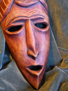 Wood mask.