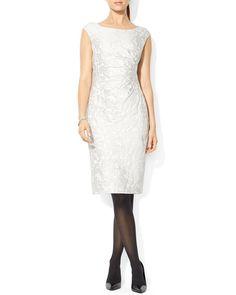Lauren Ralph Lauren Dress - Cap Sleeve Jacquard Sheath