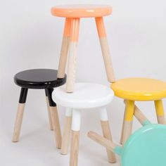 dipped stool inspiration for basic wooden stool