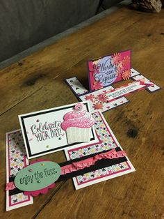 Stampin' Up! Fun Fold Cards, Folded Cards, Cupcake Card, Stampin Up, Basement, Card Ideas, Clever, Ann, Catalog