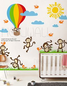 Vinyl Wall Decal Wall Sticker Kids Decal  Sunny Day by NouWall, $168.00