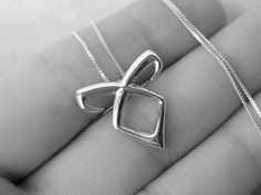 Mortal Instruments - Rune necklace -  Angelic Power - Solid Sterling silver - 18 inch box chain - Shadow Hunter - by Twilight Eyes Studio