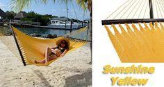 Tropic Island Sunshine yellow Caribbean Hammock