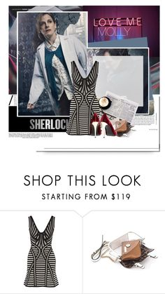 """Sherlock Series 4 // Molly"" by caddow ❤ liked on Polyvore featuring Whiteley, Hervé Léger, Mohzy and Alice + Olivia"