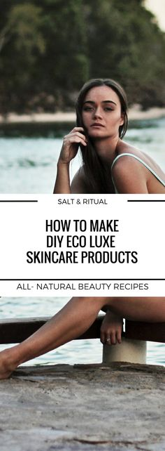 DIY eco luxe skincare recipes made with luxurious anti aging ingredients to keep your skin healthy and glowing.