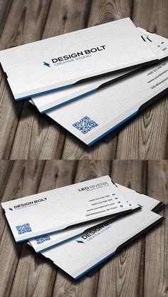 Bolt Modern Business Card #businesscards #businesscardtemplates #custombusinesscards