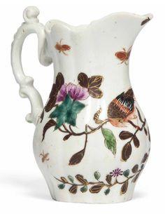 Worcester cream jug, c.1754-8.