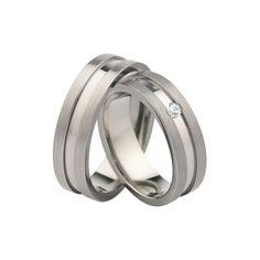 SAVICKI - Titanium: Obrączki ślubne tytanowe (T105/6/1x3,25j) - Biżuteria od 1976 r.