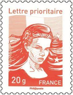 [#philatélie]Nouveau timbre-poste Marianne 2013. Projets : la Marianne de Lavergne © La Poste, DR.