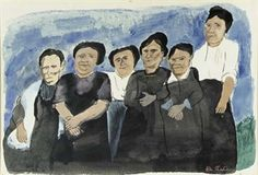 Six Witnesses who Bought Eels from Vanzetti By Ben Shahn