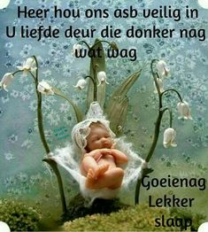 Lekker Dag, Goeie Nag, Afrikaans Quotes, Special Quotes, Sleep Tight, Love You More, Good Night, Verses, Blue