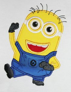 Photo of Despicable Me Minion 2 Eyes Machine Embroidery Design in Filled and Applique- TOTAL of 5 designs
