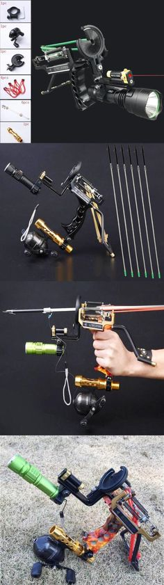 Slingshots 117141: Fishing Reel Slingshot Archery Slingbow Hunting Fish Arrows Laer Wrist Catapult -> BUY IT NOW ONLY: $108.88 on eBay!