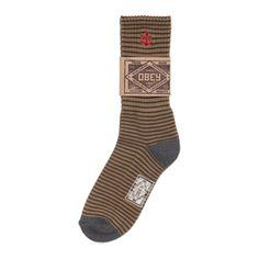 Obey Vanguard sokken khaki/brown