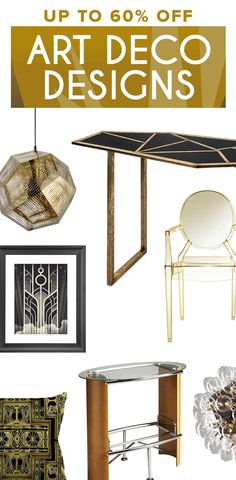 Art Deco Furniture & Décor   Shop Now at dotandbo.com