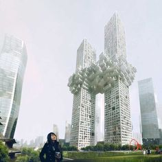 A Dutch architectural firm has proposed this residential building, called 'the Cloud', for South Korea. Critics say it looks like the Twin Towers exploding.