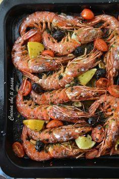 Quick and easy baked prawns-Gamberoni a forno facili e veloci Baked king prawns Kitchen that passes you - Bean Recipes, Fish Recipes, Seafood Recipes, Cooking Recipes, Healthy Recipes, Shrimp Dishes, Fish Dishes, Fish Salad, Antipasto