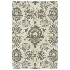 """Kaleen Rugs Hand-Tufted Seldon Ivory Damask Rug (5'0 x 7'9) (5'0 x 7'9""""), Camel, Size 5' x 7'9"""" (Wool, Floral)"""