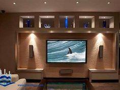 150 Modern wall niche design ideas Home wall decoration catalogue 2019 Niche Design, Tv Wall Design, Home Design, Interior Design, Design Ideas, Deco Tv, Plafond Design, Tv Decor, Home Decor