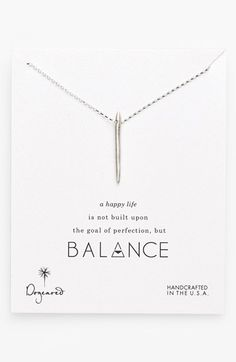 Dogeared 'Balance' Spiky Spear Pendant Necklace available at #Nordstrom