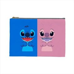 "Lilo Stitch and Angel Multi Purpose Cosmetic Pencil Case Gift Polyester 9""x6"""