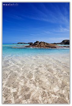 Crystal clear Bermuda water.