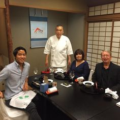 Parents loved their surprise. A traditional #kaiseki dinner with #ironchef winner and #masterchef Yoshimi Tanigawa at his 3 #michelin star #kichisen . The whole experience was amazing. Thank you Yuka-san for arranging!  #foodie #kyoto #japan by djatran