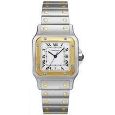 A Cartier watch. My personal favorite is the Cartier Santos Galbee Steel and Yellow Gold Watch.