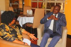 Professor Garba and Femi Ipadeola (Host) having a chat before commencement of the interview