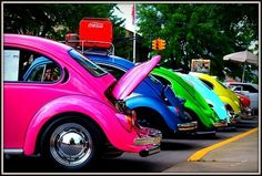 Rainbow volkswagons