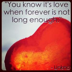 It's not long enough to that's why I want to live with u FOREVE no forever because the r is the end of forever