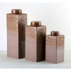 Interlude Home Orianna Tea Jars - Latte 215087