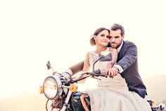 grand entrance on the motorcycle - plus love this shot!