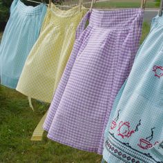 APRONS DRYING ON THE LINE
