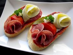 Best Tapas in Prague - Bistro Špejle Open Faced Sandwich, Sandwich Spread, Snack Recipes, Cooking Recipes, Snacks, Czech Recipes, Ethnic Recipes, Best Tapas, Tapas Restaurant