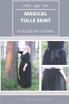 Plus size DIY magical tulle skirt