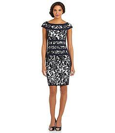 Tadashi Off-the-Shoulder Lace Dress