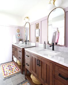 Primp and Pamper traditional, sophisticated girl's bathroom reveal Little Girl Bathrooms, Girl Bathroom Ideas, Bath Girls, Kids Bath, Girl Closet, Grey Flooring, Sweet Home, New Homes, Home Decor