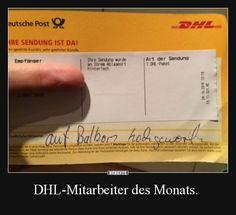 DHL-Mitarbeiter des Monats.