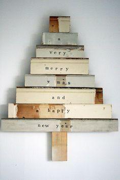 wood & wool x-mas tree liesbeth - xl & stamped by wood & wool stool, via Flickr