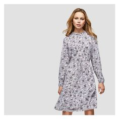 Alternate color to heart print, for detail.  Flounce Shirt dress from Joe Fresh. Our latest shirt dress features a mandarin collar and ruffled asymmetrical hem for a perfect weekday look. Model measures approximately 5'10