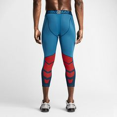 Nike Pro Hypercool Compression Three-Quarter Men's Tights. Nike Store