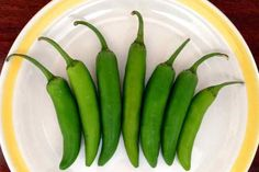 Serrano chiles. Hot peppers used in Mexican salsas. #mexicanfood #spicy - mexicanfoodjournal.com