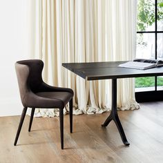 The Markson Dining Chair boasts delicate curves with elegant tapered legs, making it a sophisticated choice for your dining space. Furniture Dining Table, Dining Chairs, Furniture Making, Home Furniture, Soho House, Reclaimed Timber, French Oak, Interior Design Services, Mid-century Modern