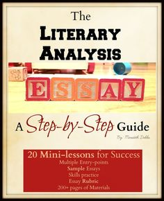 I have spent the past TWO YEARS of my life compiling this bundle. No joke! This bundle contains 20 mini-lessons in 22 files/ 200+ pages to help guide your high school English students to success on the Literary Analysis Essay. by Bespoke ELA