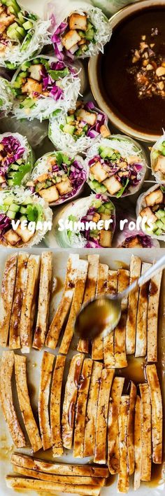 Vegan Summer Rolls & Hoisin Tofu!!! - Low Recipe