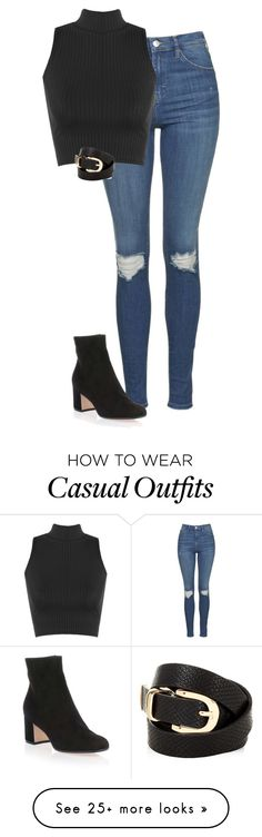 """Simple & Casual"" by kaciwiens on Polyvore featuring Topshop, WearAll, Accessorize and Gianvito Rossi"