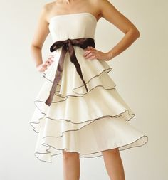 Waft | White Cocktail Dress by aftershowershop, $45.00 // rehearsal dinner?