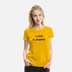 I love Plogging minimalistic Statement Typography Women's Premium T-Shirt